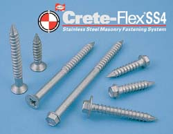 Crete-Flex Masonry Screws