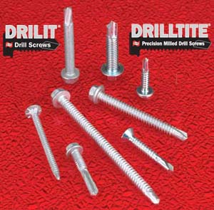 Drilit and Drilltite Standard Self-Drilling Fasteners