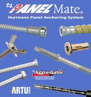 Hurricane panel hardware